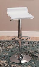 Load image into Gallery viewer, Coaster White Seat Chrome Base Adjustable Bar Stool Set of 2