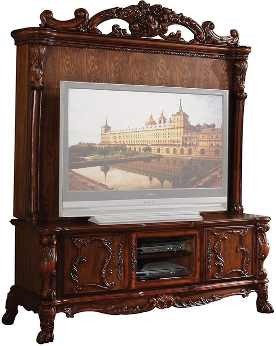 Acme Dresden Cherry Wood Finish Entertainment Center