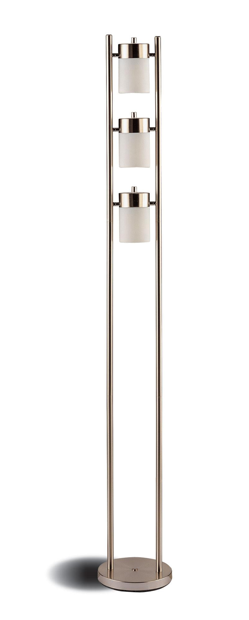 Coaster Contemporary Style Silver Chrome Floor Lamp
