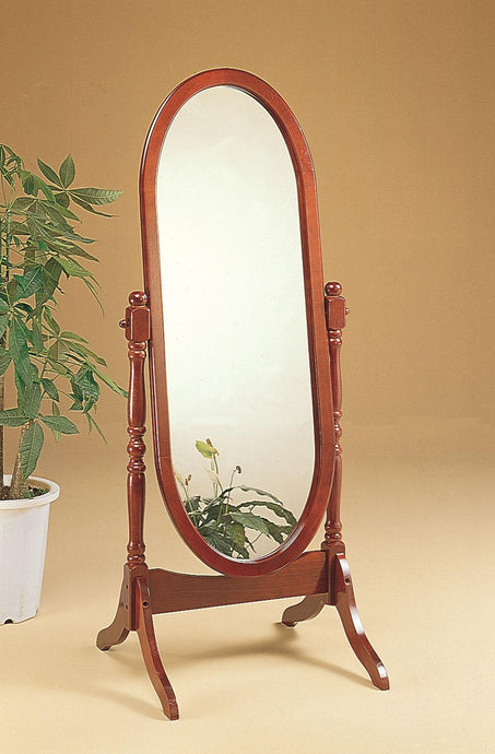 Coaster Warm Brown Traditional Cheval Accent Mirror