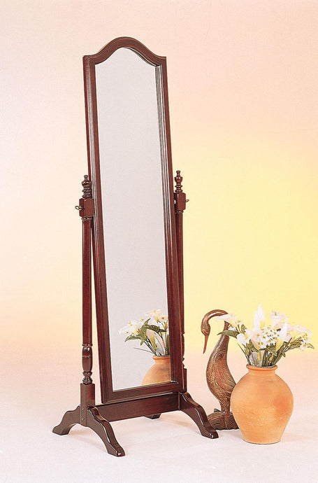 Traditional Style Cherry Cheval Mirror