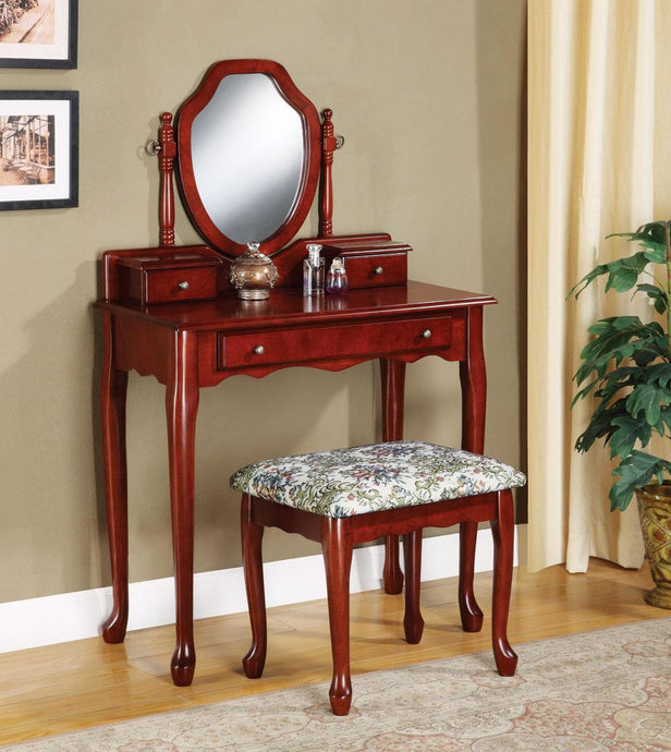 Traditional Style Cherry Vanity Set