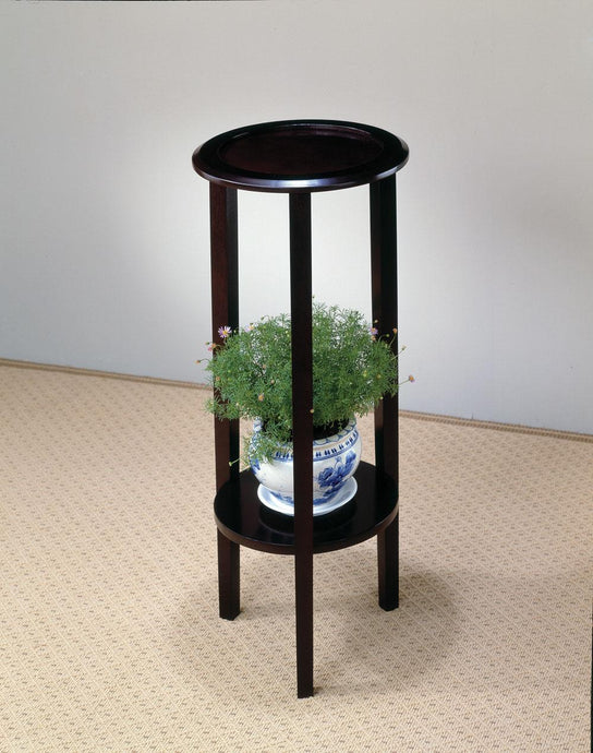 Coaster Transitional Style Cappuccino Plant Table