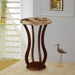 Coaster Transitional Style Cherry Accent Stand