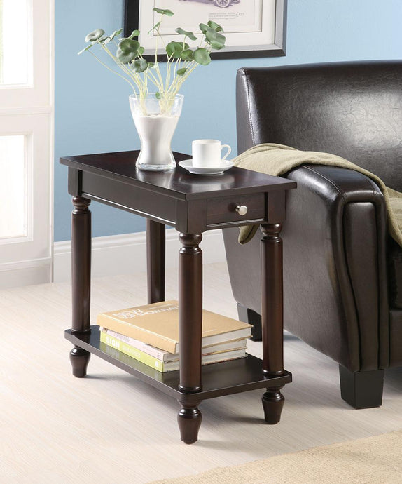 Traditional Style Cappuccino Side Table