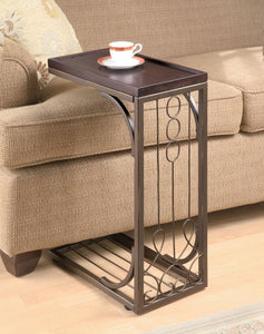Coaster Dark Brown Finish Contemporary Snack Table