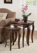 Load image into Gallery viewer, Coaster Cherry 3 Piece Nesting Table Set