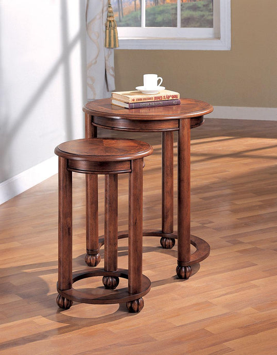 Coaster Traditional Style Cherry Nesting Table