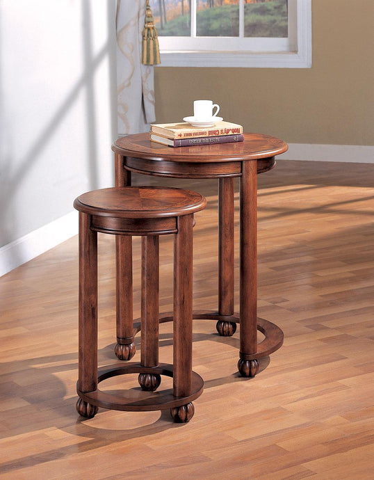 Traditional Style Cherry Nesting Table