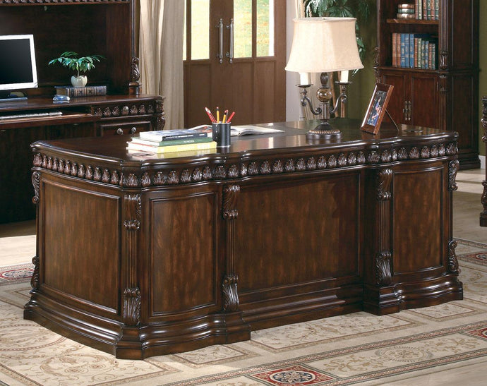 Coaster Union Walnut Hill Double Pedestal Desk