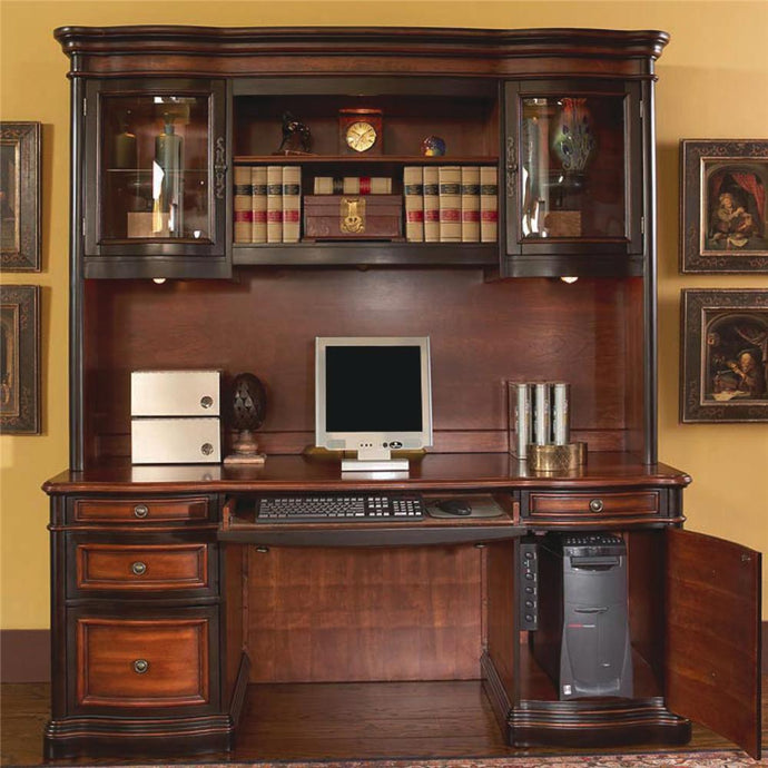 Pergola Credenza Desk With Hutch