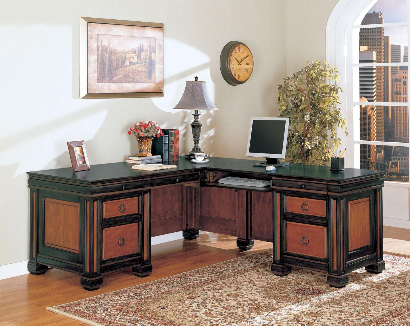 Coaster Tate Traditional L Shaped Office Desk