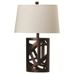 Coaster Table Lamp with White Fabric Shade