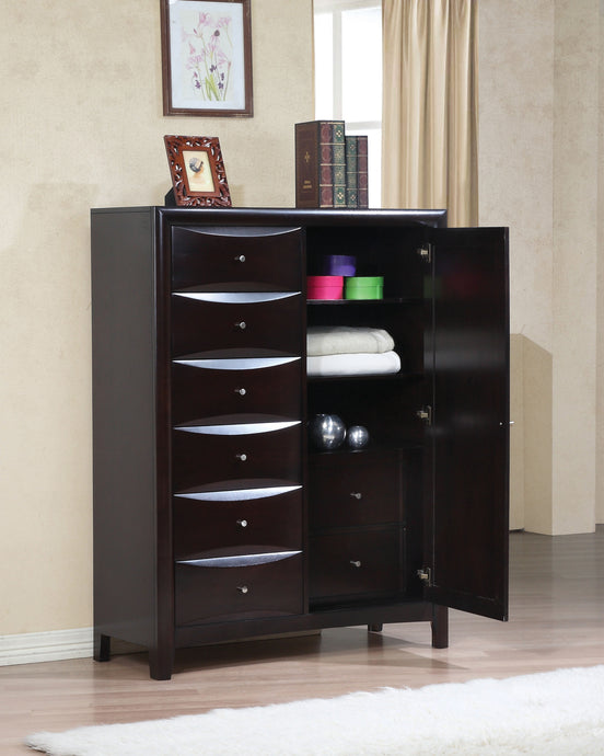 Coaster Phoenix Cappuccino mans Chest with Storage Drawers