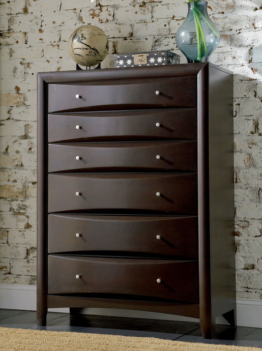 Coaster Contemporary Style Phoenix 6 Drawers Chest
