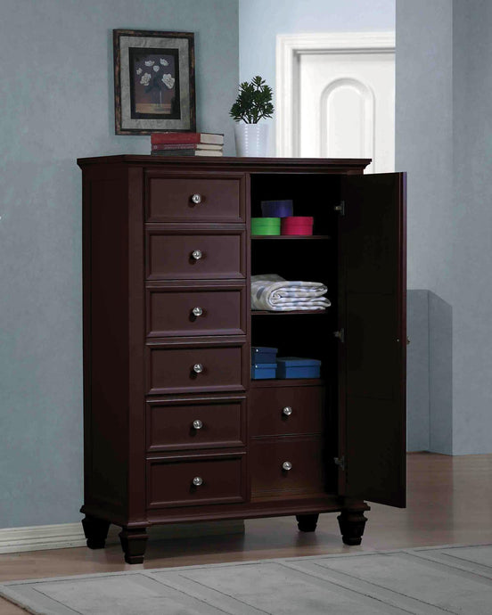 Coaster Sandy Beach Cappuccino Door Chest with Concealed Storage