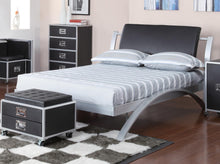 Load image into Gallery viewer, Homy Living LeClair Silver Twin Metal Platform Bed