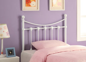 Coaster White Twin Metal Headboard
