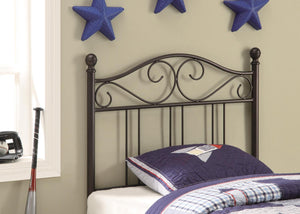Brown Transitional Twin Metal Headboard
