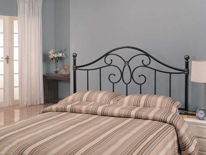Coaster Black and Bronze Metal Queen Full Headboard