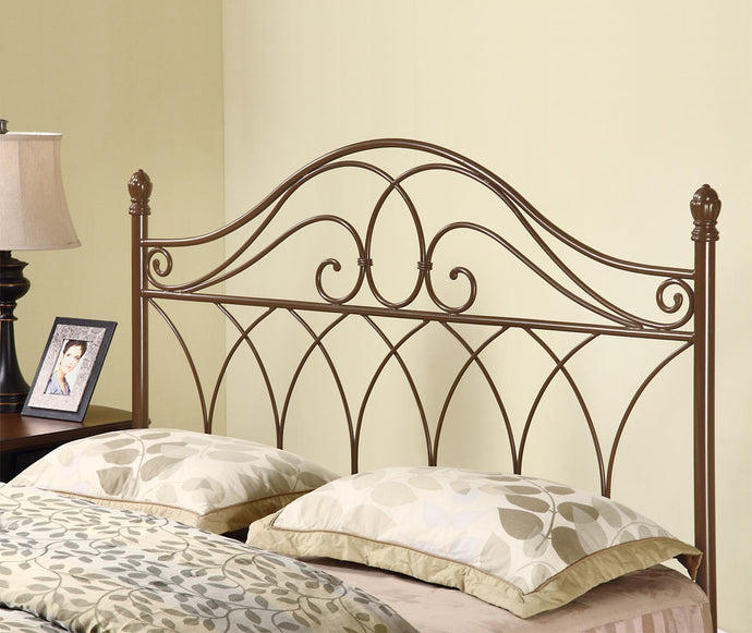 Rich Brown Metal Queen Full Headboard