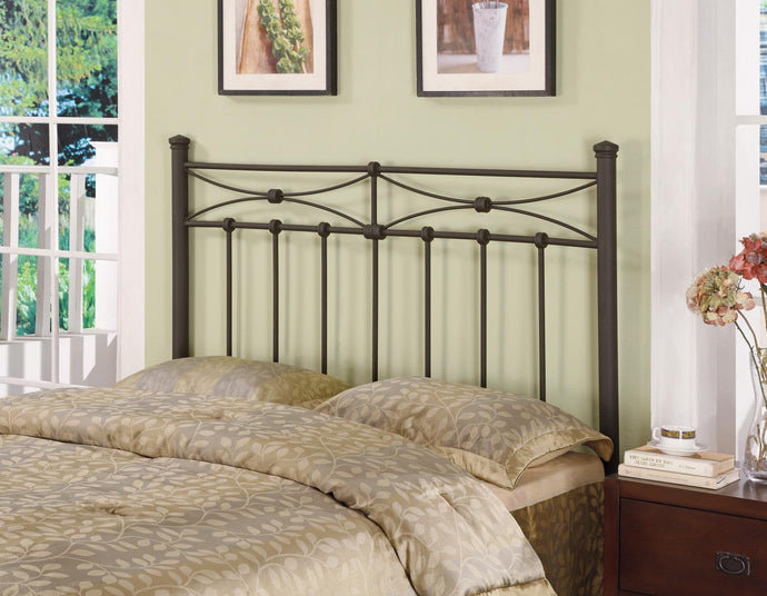 Coaster Black Metal Finish Queen Full Headboard