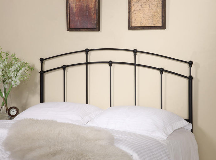Coaster Black Metal Queen Full Headboard