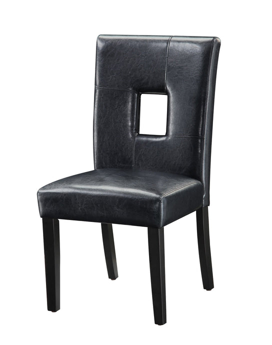 Black Plush Seating Dining Side Chair in Cappuccino
