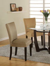 Load image into Gallery viewer, Coaster Taupe Microfiber Parson Side Dining Chair Set of 2