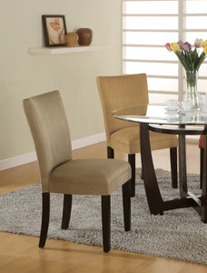 Coaster Taupe Microfiber Parson Side Dining Chair Set of 2