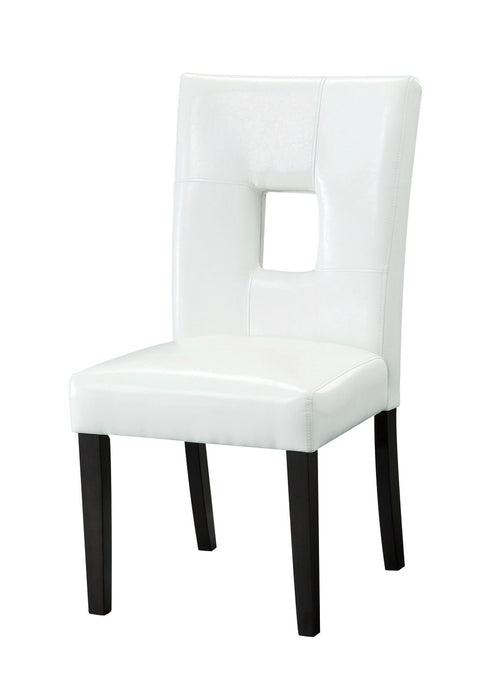 Coaster White Plush Seating Dining Side Chair in Cappuccino Set of 2