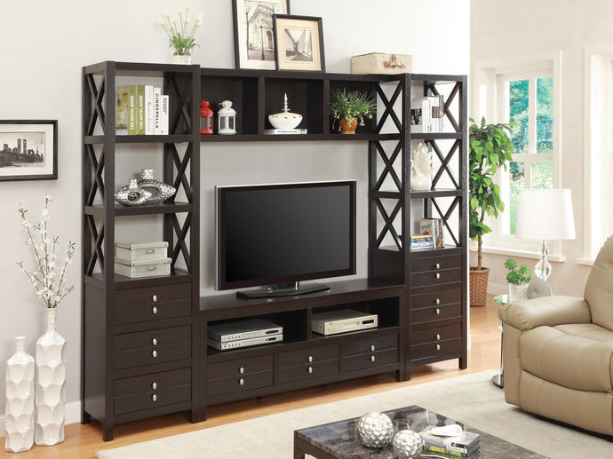 Cappuccino Media Entertainment Center Set