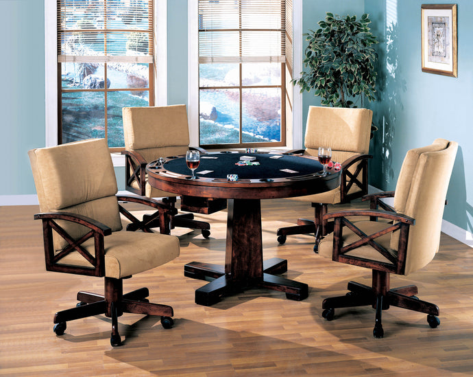 Coaster Tobacco 5 Piece 3 in 1 Game Table Set