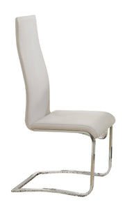 Nameth White Faux Leather Dining Side Chair