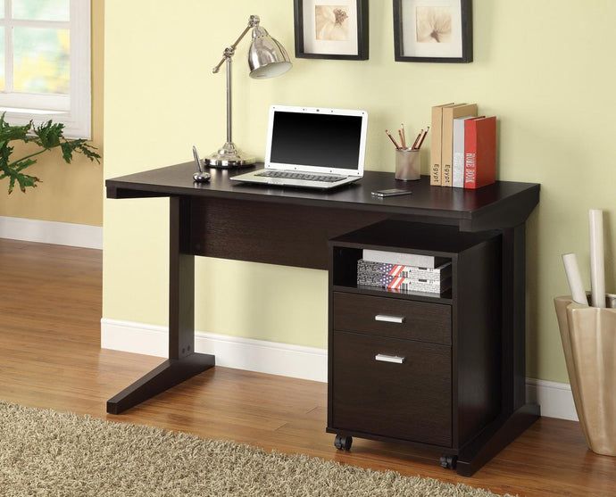 Coaster 2 Piece Cappuccino Office Desk and File Cabinet
