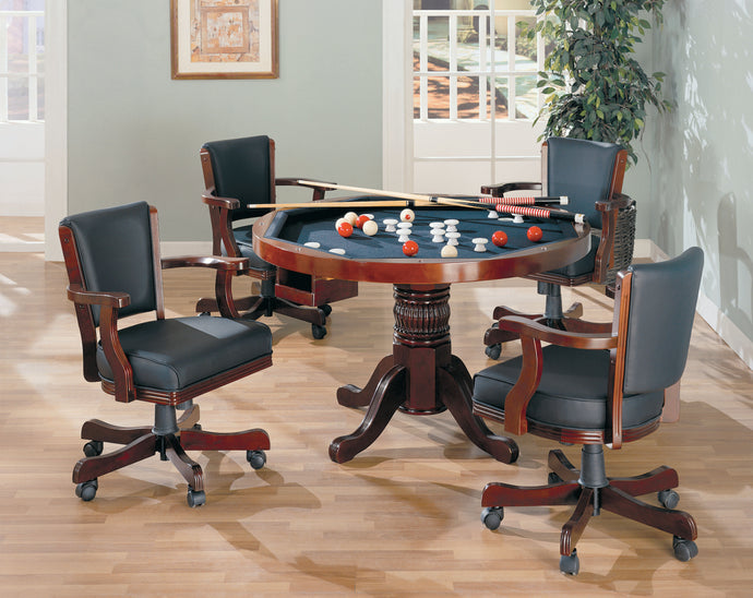 Coaster Merlot 5 Piece 3 in 1 Game Table Set
