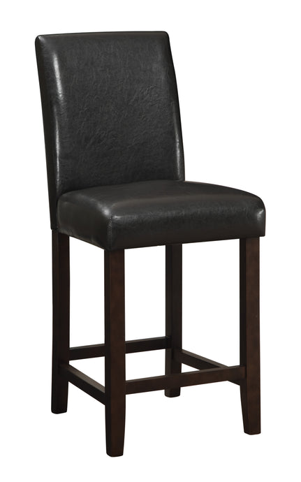 Dark Brown Upholstery Counter Height Bar Stool
