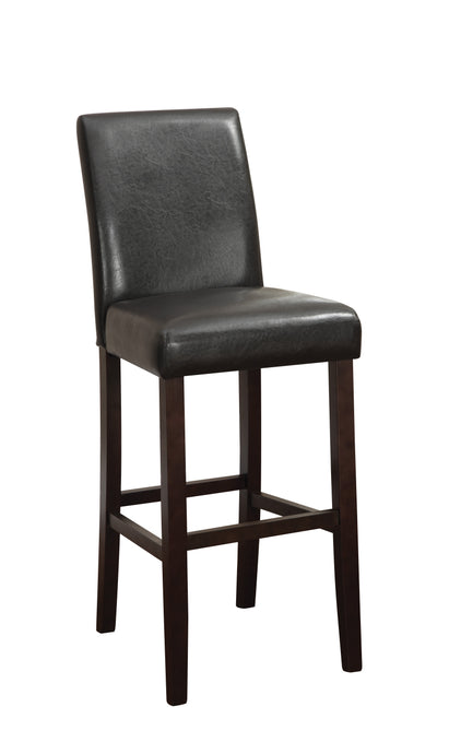 Dark Brown Upholstery Bar Stool