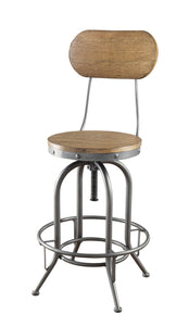 Coaster Brown Wood And Metal Finish 2 Piece Bar Stool