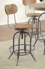 Load image into Gallery viewer, Coaster Brown Wood And Metal Finish 2 Piece Bar Stool
