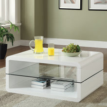 Load image into Gallery viewer, Coaster White Coffee Table with 2 Shelves