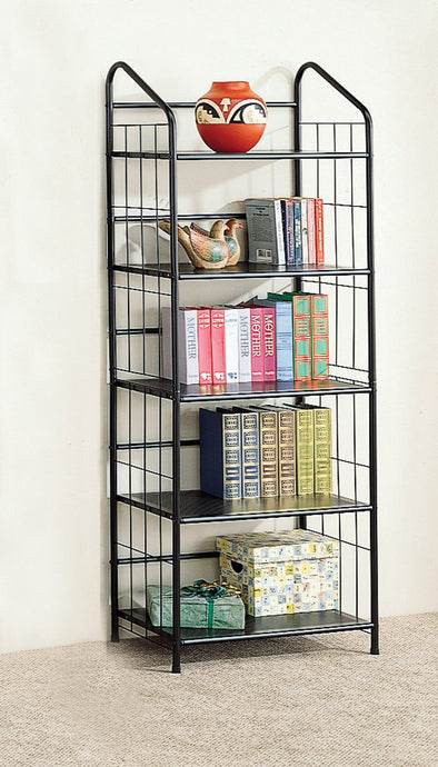 Contemporary Style Casual Metal Bookcase