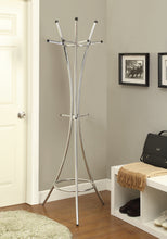 Load image into Gallery viewer, Coaster Chrome Triple Tiered Hooks Coat Rack
