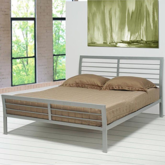 Mod Silver Metal Finish Twin Bed