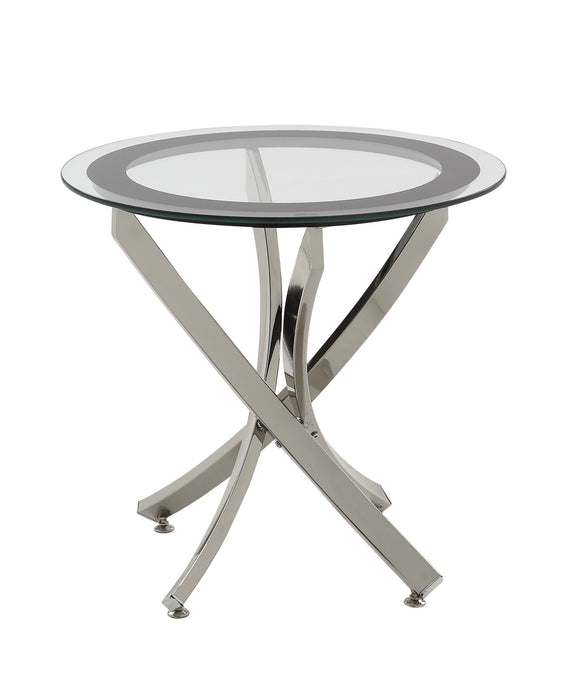 Chrome Tempered Glass Top End Table