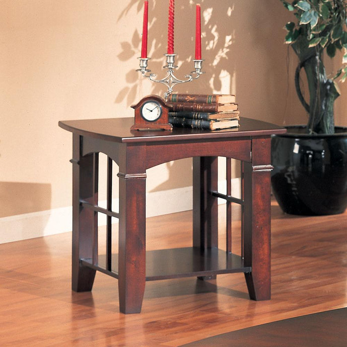 Cherry Abernathy End Table with Shelf
