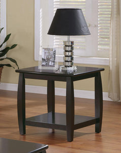 Coaster Marina End Table with Bottom Shelf