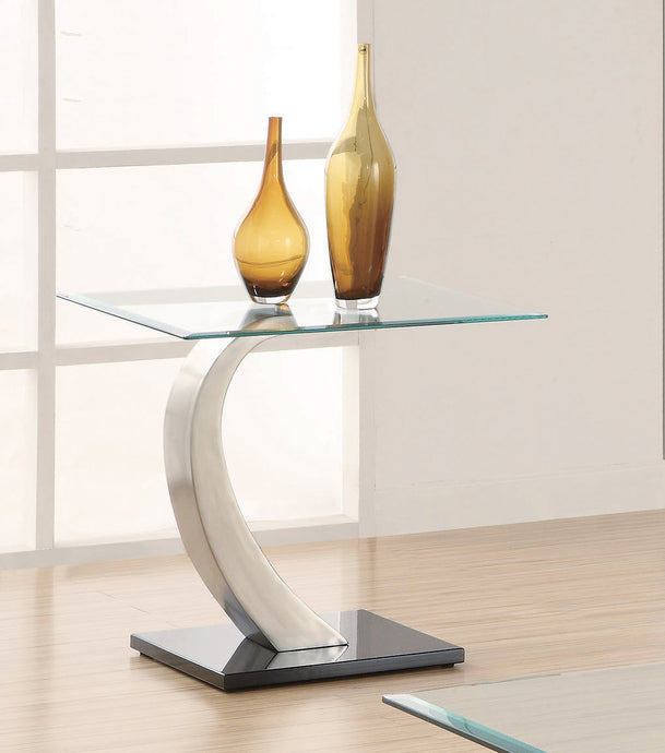 Coaster Shearwater Glass Top End Table