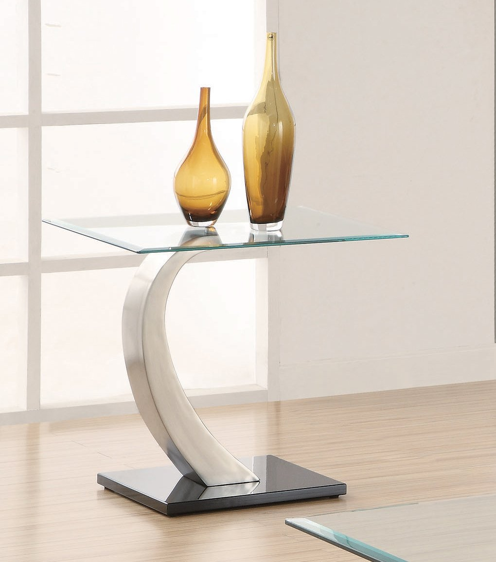 Shearwater Glass Top End Table