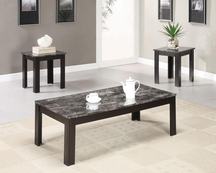 Marble Looking Top Coffee Table Set